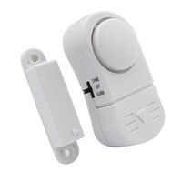 Wholesale 2016 New Mini Wireless Magnetic Sensor Door Window Entry Safety Security Burglar Alarm Bell Classical White Security Burglar Alarm Bell