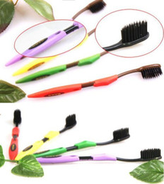 Wholesale pieces New Black Colour Dental Care Soft CoBamboo Toothbrush