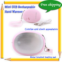 Wholesale Hot Selling Mini USB Rechargeable Hand Warmer Pink White