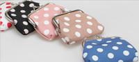 Wholesale Big dot iron buckle cotton bags present gift Change purse wallets hc