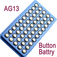 Wholesale AG13 LR44 A76 SR44SW SP76 RW82 button Battery For LED candle rose lamp Watch flashlight
