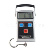 Wholesale Multipurpose Digital LCD Scale Stainless steel hook Kg g Kg g Tape Measure Y1048D