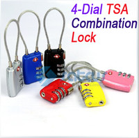 Wholesale New dial TSA Combination Lock Luggage Travel Padlock PC combination locks TSA Travel Sentry Approved