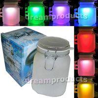 Jar sun jar solar light - Sun solar power Color Colorful Glass Sun Jar LED Night Light Lamp Sunjar Free Light for Night time