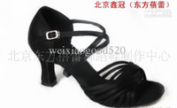 pvc manufacturers - Dance shoes Sandals Direct manufacturers The Latin dance shoe Slae Ballroom Shoes Soft bottom shoes Satin Black Heel cm cm HOT
