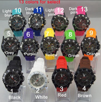 Wholesale high quality silicon band alloy metal case calendar version new wrist watch