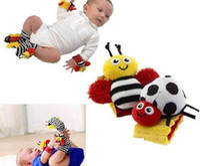Cotton bee order - Top Sample Order Lamaze Wrist Rattle Foot Finder Ladybug Bee Plush toy toddler Infant kids toy