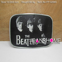Wholesale Fashion beatles belt buckle metal belt buckle with pewter finish plating FP