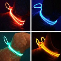 Wholesale Multicolor LED fiber optic light dog flash collar pet decorative band CM