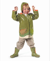Wholesale NEW Children s raincoat EP Kids boys Rain Coat Dinosaur style raincoat waterproof coats Poncho