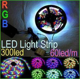 10m 3528 SMD RGB LED Strip light not waterproof 5M 300led+24key IR Controller Garden Christmas Party