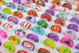 Rings Resin Lucite Square Ring 13-16mm 100pcs Jewelry Not include box