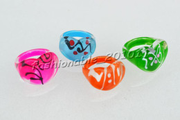 Lots Rings Resin Lucite Heart Ring 13-16mm 1000pcs Children Jewelry Not include box