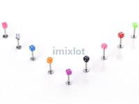 Unisex acrylic dice - New Lip Piercing X mm Dice Tragus Labret Imixlot Fashion Body Piercing Jewelry BA21