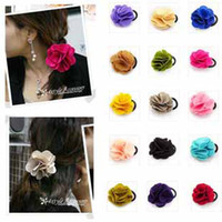 Wholesale Fashion sexy lovely new camellia headwear headdress tire multicolor roses decorative hair ring loops