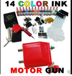 Wholesale 2 Tattoo Guns Rotary Machine Power Supply Needles Tips Grips Tattoo kit