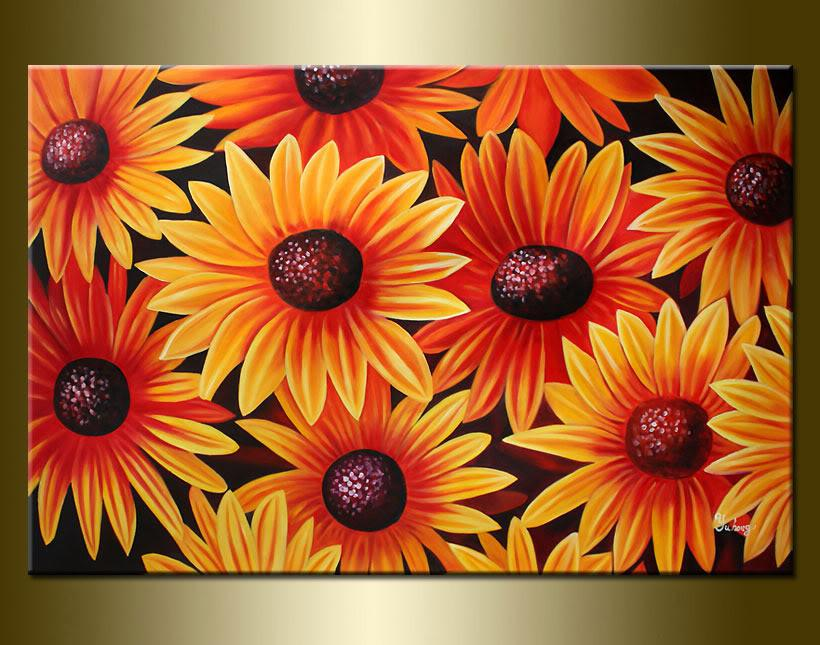 Vvisitingmexico | Images: Simple Abstract Flower Paintings