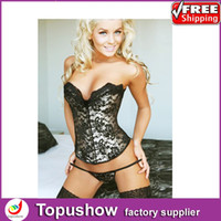 Cheap Women black lingerie Best Corset & Bustier Christmas bustier underwear