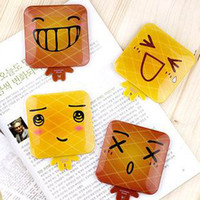 Wholesale Carry a small mirror of a square folded up mirror bread lovely face up mirror