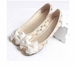 Wholesale Sweet princess fish mouth bowknot hollow out women s shoes bride wedding shoes sandals S