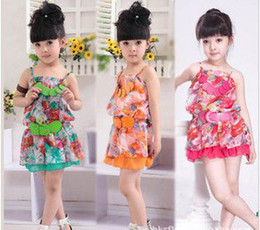 Wholesale new children s clothing female baby girls dress skirt snow spins condole belt with necklace