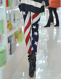 Wholesale NEW Funky Leggings American Flag Tights Legwear Pants Fashion