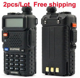 Wholesale 2 x New baofeng dualband UV R radio dual display mHZ two way radio dualband walkie talkie with good quality and best sell