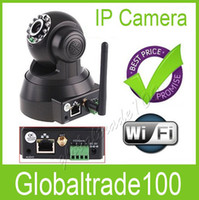 Wholesale Nightvision LED IR Webcam Web CCTV Camera WiFi Wireless IP Camera White Black Color Free DHL