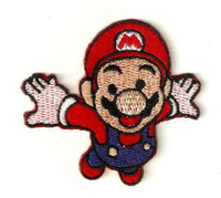 Wholesale SUPER MARIO Flying Embroidered Iron On Patch Applique Badge KIDS Patch Applique