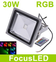 Wholesale 30W RGB Led Floodlights V Waterproof IP68 Led Oudoor Lamp Bright LM Colorful Garden Light