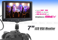 Wholesale 7 quot TFT LCD Monitor FW619AH Camera Monitor HDMI VGA AV1 AV2 Input for Canon D mark II D