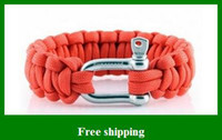 Wholesale Beautiful Paracord Parachute survival Bracelets Hand Made with Steel buckle Gifts