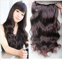 Wholesale Women s Long Curl Curly Wavy Hair Extension Clip On sexy stylish fashion US U PICK COLOR W002