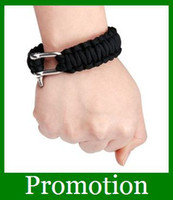 Wholesale New Parachute Survival Bracelets Paracord Hand Made with Steel buckle Gifts Promotion
