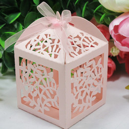 Wholesale Laser Cut Leaf Wedding Favor box wedding box