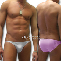 Wholesale cheap Men s Sexy Bikini Milk like fiber Low rise string waist underwear Brief Sale