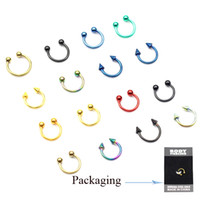 Wholesale Titanium anodized Circular Barbell Horseshoe Rings body piercing jewelry CBRBJ01