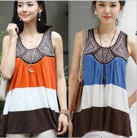 Wholesale 2012 Ms Vest Manual Embroidery Decorative pattern Wide stripe Mosaic Color matching Vest A74