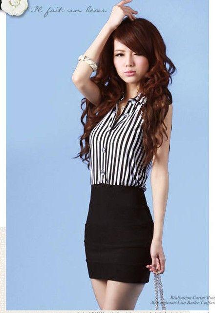 Wholesale - Women's business casual wear Fashion casual dress korean