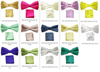 Wholesale HOT SELLER NEON SATIN MENS SCRUNCHIE WEDDING BOW TIE and handkerchiefs pieces