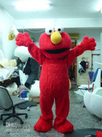 Wholesale Red Elmo Mascot Costume Halloween Costumes Chirstmas Party Adult Size Fancy Dress