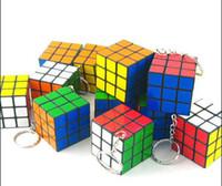 Wholesale Pieces Mini Magic Cube Puzzle Magic Game Magic Square Keychain Key Ring
