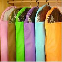 Wholesale Clothes Suit Dress Garment Dustproof Cover Bag Storage Bags Thicken