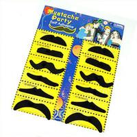 Wholesale Set of Stylish Costume Party Fake Mustache Moustache