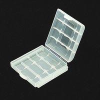 Wholesale Hard Plastic Case Holder Storage Box AA AAA Battery White