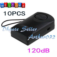 Wholesale 10PC Black dB Siren Wireless Touch Mobile Sensitive Anti Theft Hanging Security Alarm Window Door