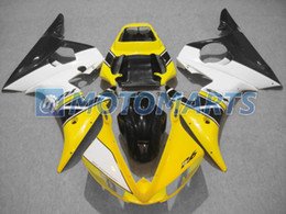yellow white motorcycle fairing kit FOR Yamaha YZF R6 2003 2004 2005 YZF-R6 03 04 05 YZFR6 600 03-05