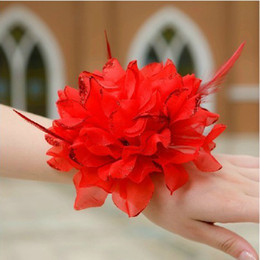 Wholesale 2012 New simulation peony flowers Wedding Bridal Bouquets The bride Wrist flowers bride s headdress