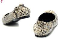 Slip-On snake print shoes - Hot Sale Designer Snake Print Pattern Flats Woman Fashion Dress Shoes Girl s Footwear Sizes