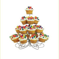 Wholesale New Cupcake Stand Tree Holder Muffin Serving Birthday Cake Cup Party Tier